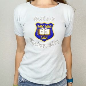Vintage 80's Oxford University Blue Tee Shirt